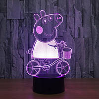 3D светильник 3D Lamp Свинка Пеппа (LP-1270), фото 1