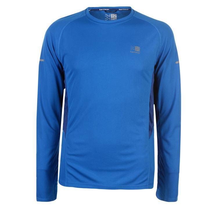 Футболка с длинным рукавом Karrimor Long Sleeved Running T Shirt Mens