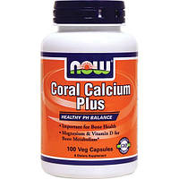 Коралловый кальций (витамины и минералы), Now Foods, 100 капсул