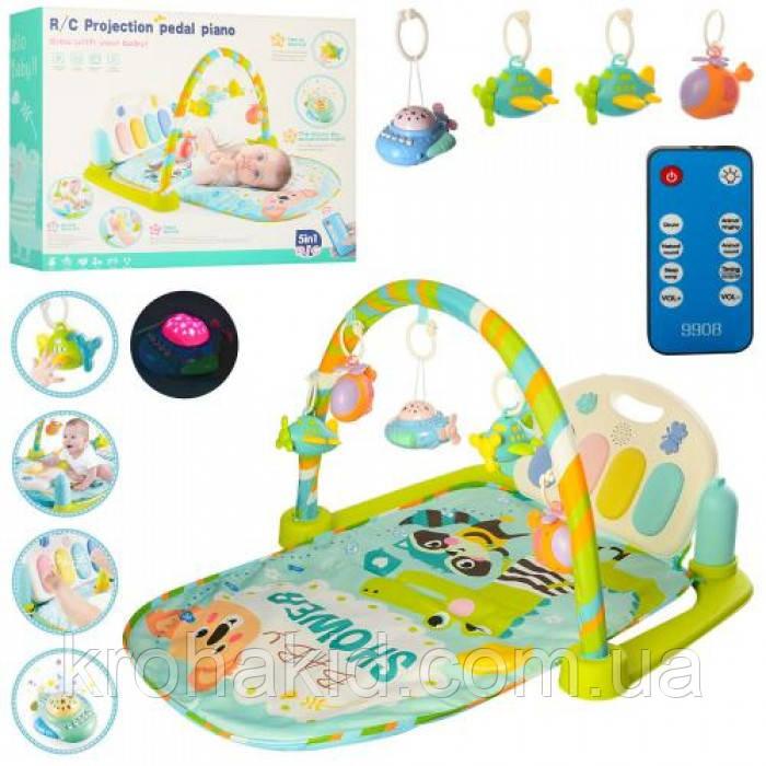 Коврик для малыша с пианино и подвесками, со звуковыми эффектами, 9910!