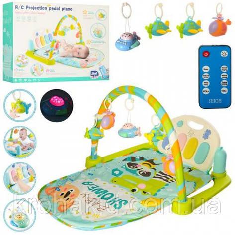 Коврик для малыша с пианино и подвесками, со звуковыми эффектами, 9910!, фото 2