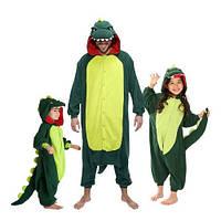 Кигуруми детский Динозавр зеленый 130 cac0c07a9b2d4