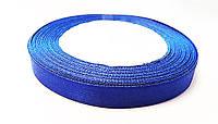 Лента Атласная Синяя ширина 1 см, длина 1 м / 100 м