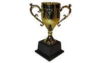 Кубок C-859 (металл, пластик, высота-18см, чаша -13см, золото)