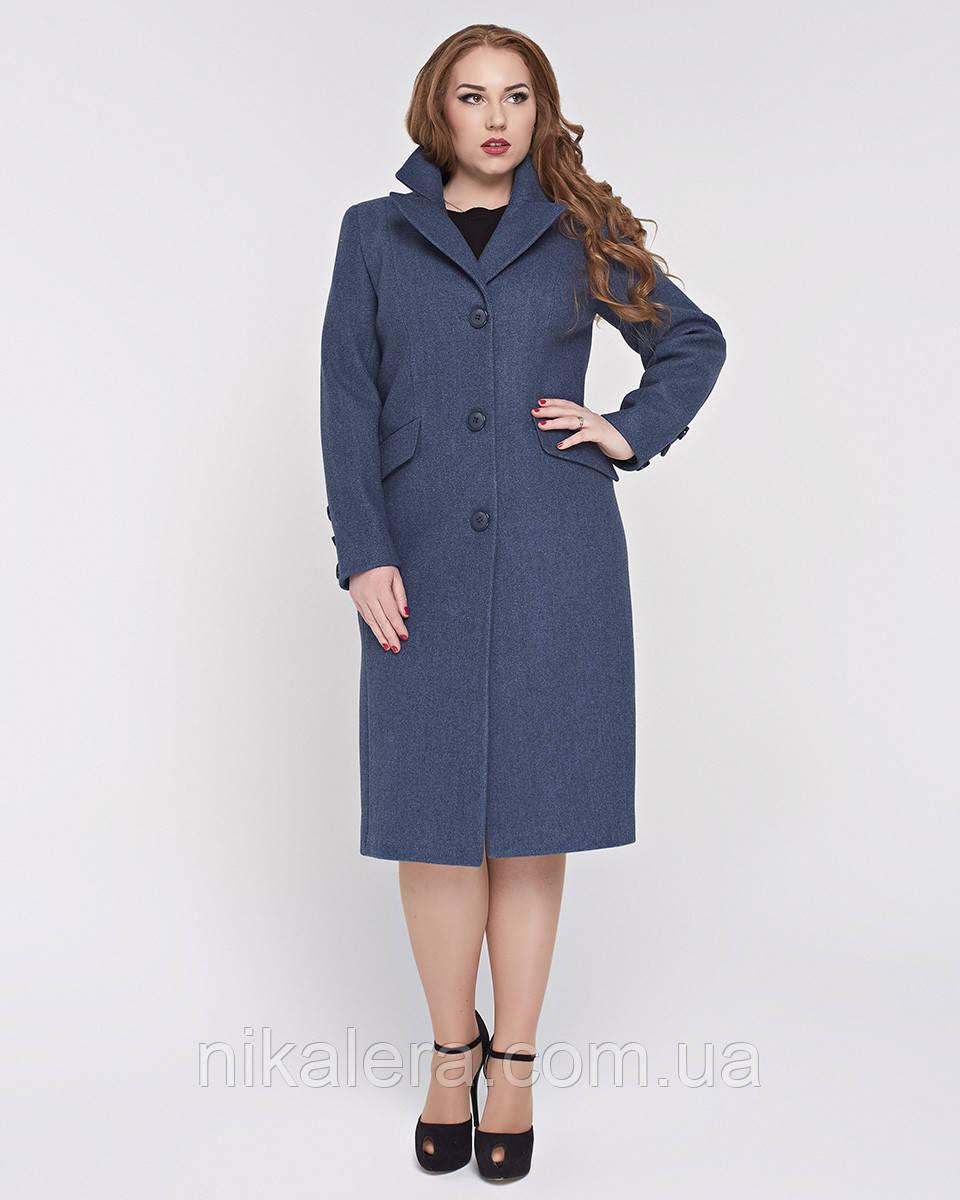 Пальто длинное, классическое рр 50-58