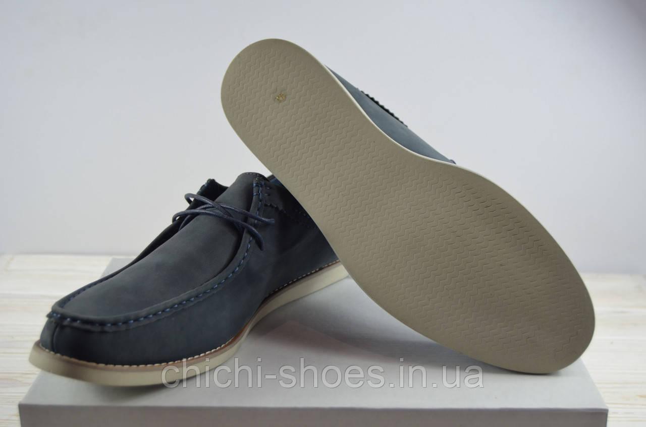 Туфли мужские Miratti 1257-603 синие нубук на шнурках
