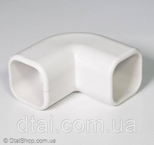 Уголок соединительный для трубы (22×22, кватрат) L-образный