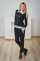 Костюм спортивный женский черный, фото 1