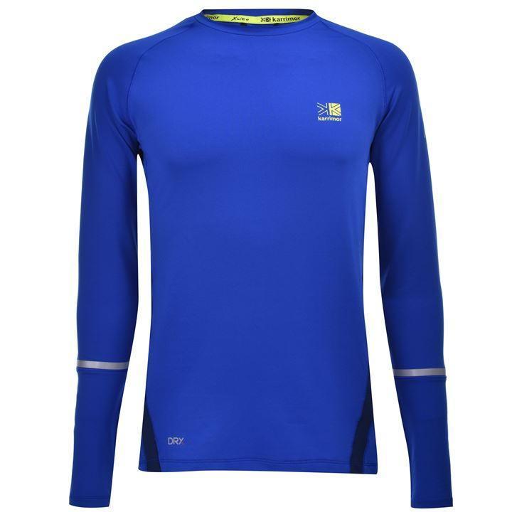 Футболка с длинным рукавом Karrimor XLite Long Sleeve T Shirt Mens