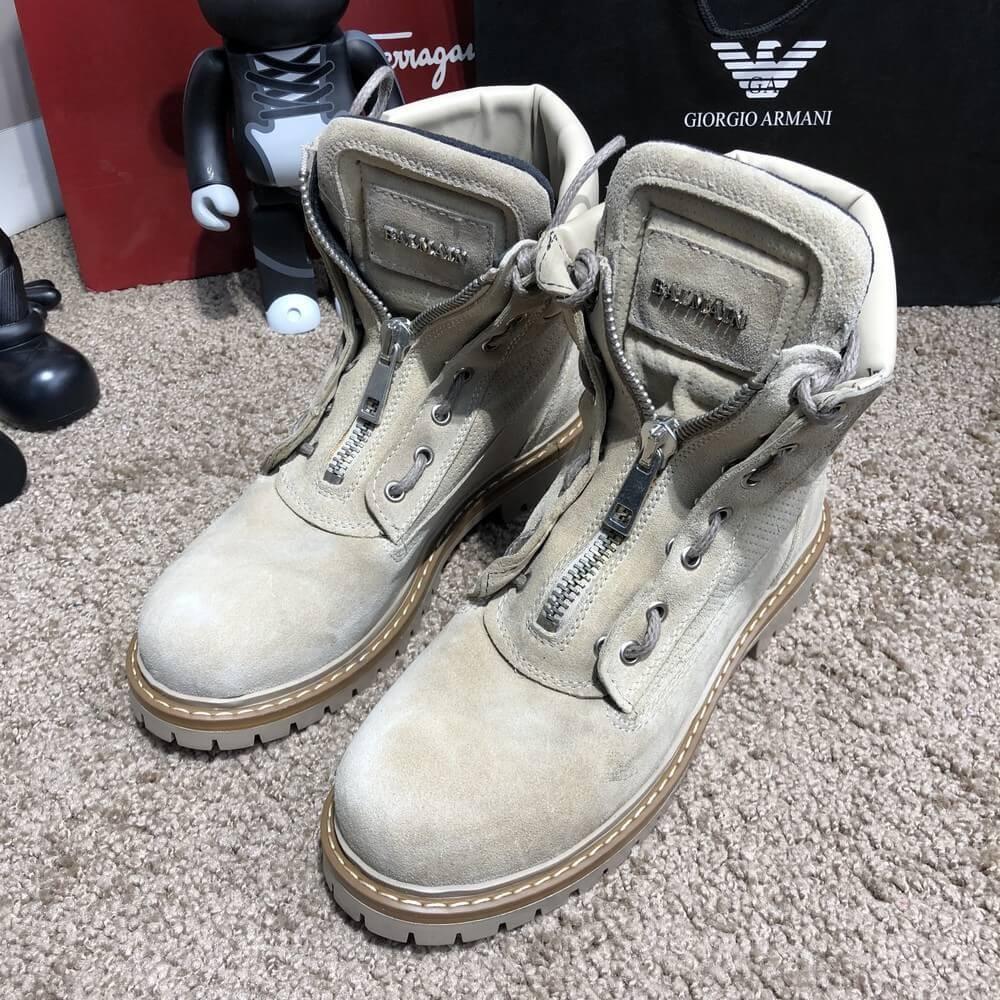 d11412b4bf8 Стандартные объявления. Ботинки мужские Balmain Zipper Sneakers Boots Sandy  Suede
