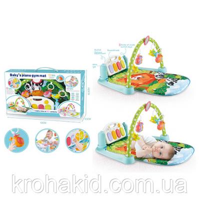 Коврик для малыша с пианино и подвесками, со звуковыми эффектами, в коробке, 9912 N