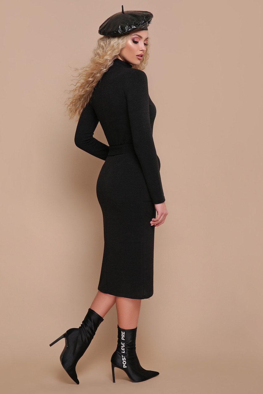 df9ad03907bd52b Трикотажное платье миди чёрное: продажа, цена в Хмельницкой области ...