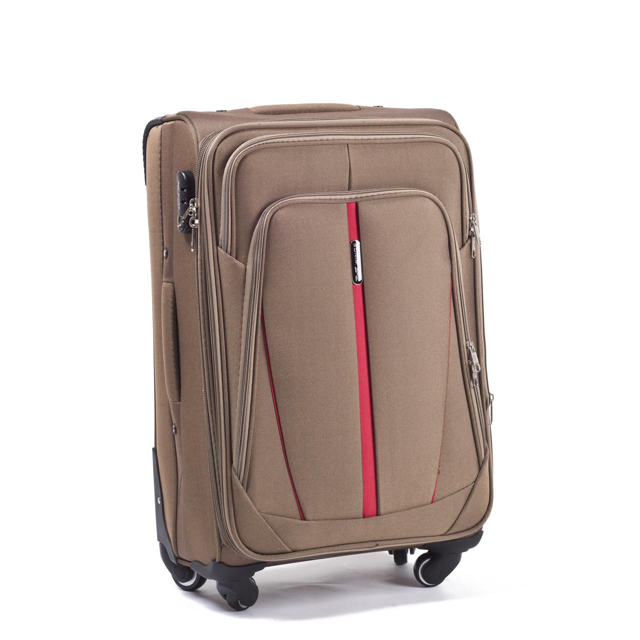 Малый тканевый чемодан Wings 1706 на 4 колесах бежевый