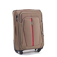 Малый тканевый чемодан Wings 1706 на 4 колесах бежевый, фото 1