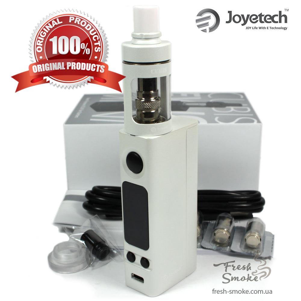 Электронная сигарета Joyetech eVic VTC Mini + атомайзер CUBIS   Вейп Starter Kit Белый (Оригинал)