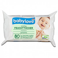 Детские влажные салфетки Babylove 80 шт