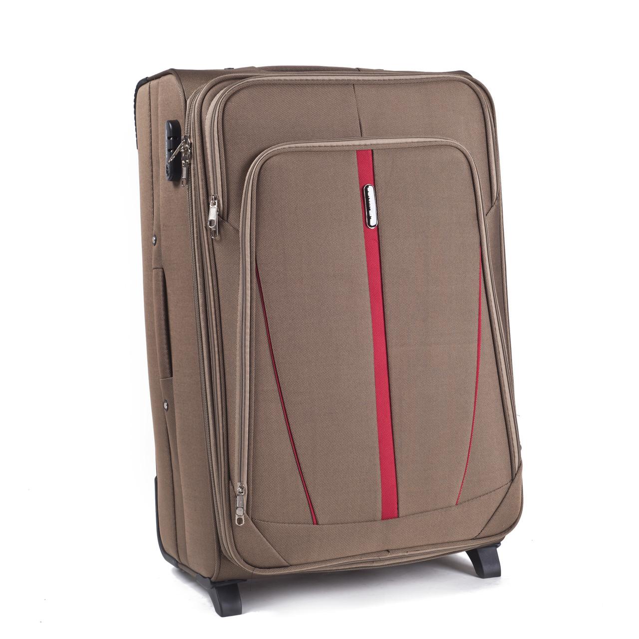 Малый тканевый чемодан Wings 1706 на 2 колесах бежевый