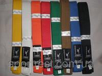 Пояс карате (220см. красный, оранжевый,синий, коричневый)