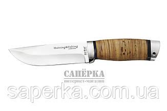 Нож Охотничий Grandway 2265 BLP. Рукоять - береста, фото 2