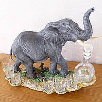 Штоф Слон на скелі зі стопками і графином, фото 1