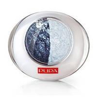 Тени PUPA Luminys Duo Baked Eyeshadow № 30 Blue light blue / Сине - светло - голубой