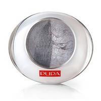 Тени PUPA Luminys Duo Baked Eyeshadow № 06 Silver grey / Серебристо - серый