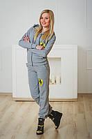 Спортивный костюм женский ferrari светло-серый, фото 1