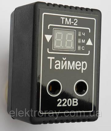 Таймер ТМ-2 10А розеточный многофункциональный DigiCop, фото 2