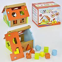 Игровой деревянный домик - сортер