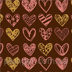 Трансфет для шоклада Сердечки