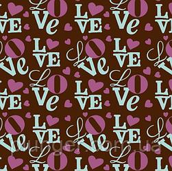 Трансфет для шоклада Love