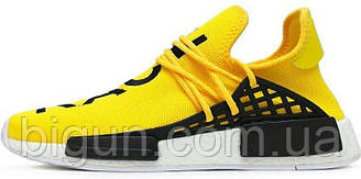 Мужские кроссовки Adidas x Pharrell Williams Human Race NMD Yellow  (адидас нмд хьюман рейс, желтые)