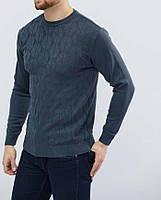 """Легкий мужской свитер """"Кирилл"""" размеры Л, ХЛ, 2ХЛ, серый, бордовый, синий"""