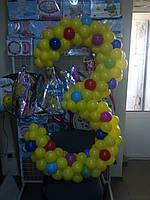 Цифра 3 из шаров