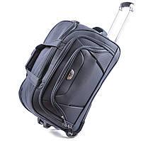 Большая сумка Wings C1055 на 2 колесах серый, фото 1