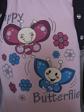 Кофточка для девочек 98,104,110,116,122 роста Пчелки, фото 2
