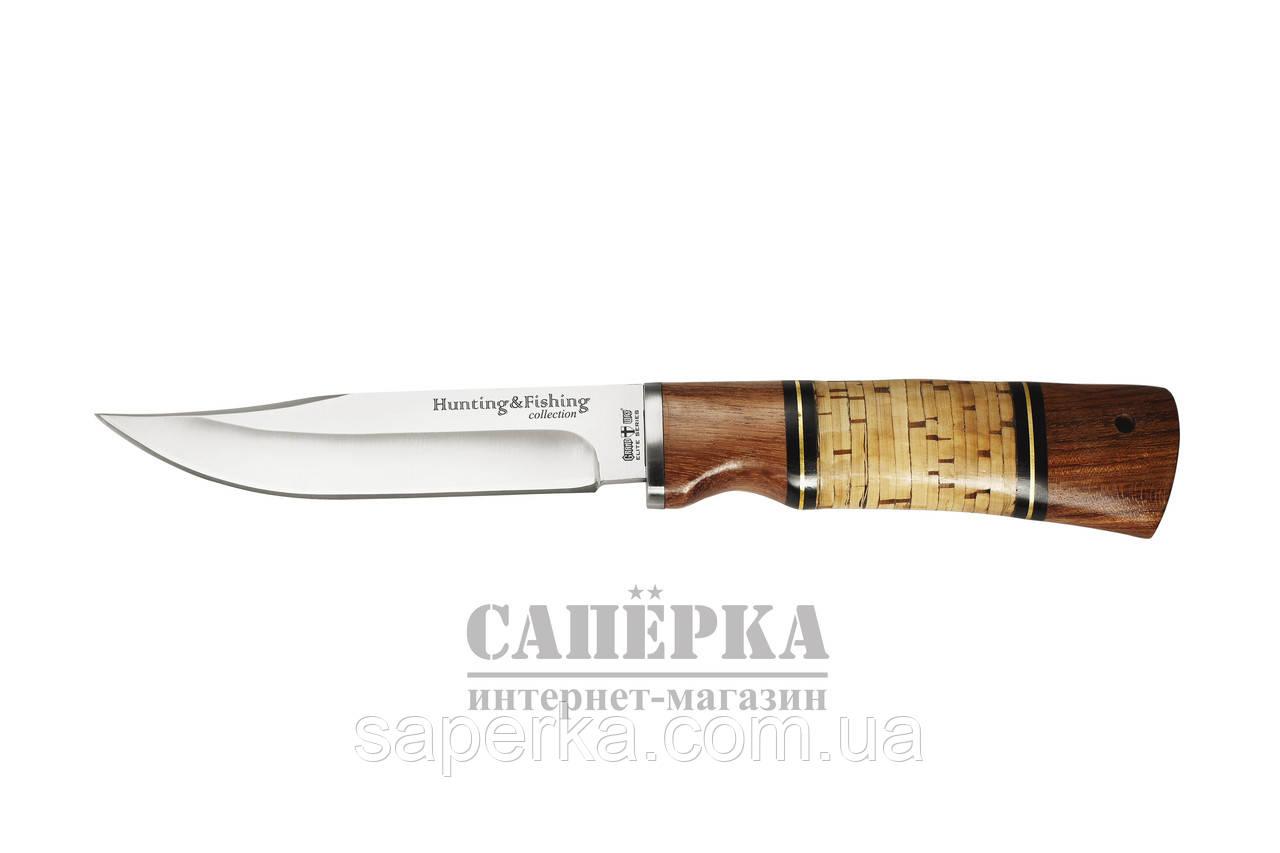 Нож охотничий Grandway  2283 BL. Рукоять - береста, дерево