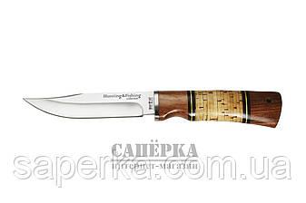 Нож охотничий Grandway  2283 BL. Рукоять - береста, дерево, фото 2