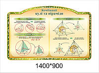 "Стенд для геометрии ""Комбинации шара и пирамиды"""