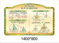 """Стенд для геометрії """"Комбінації кулі і піраміди"""""""