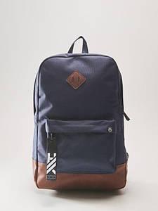 Рюкзак HOUSE - Темно-синий с кожаной вставкой (темно синій)