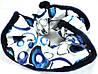 Красивая синяя тканевая резинка Р1050-1