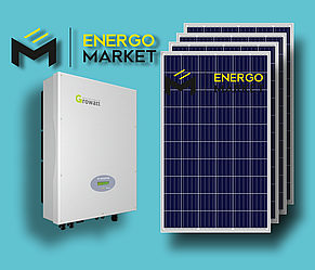 Сетевая солнечная станция 5 кВт (3-фазный, 2 МРРТ)