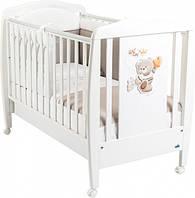 Детская кроватка CAM Orso с выдвижным ящиком Белая (G210)