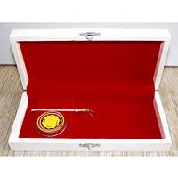 Деревянная подарочная коробка для садового ножа с мусатом и смазкой Laguiole Bougna 1900