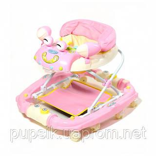 Ходунки детские TILLY 22088 PINK с качалкой