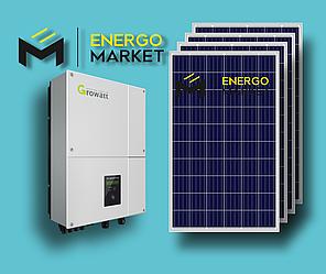 Сетевая солнечная станция 5 кВт (1-фазный, 2 МРРТ)