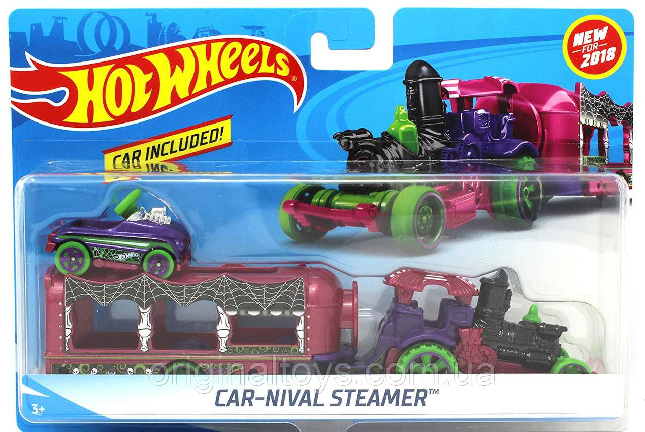 Грузовик-трейлер Hot Wheels Car-Nival Steamer BDW51