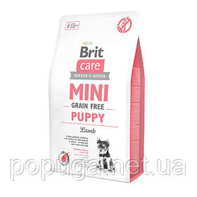 Корм Brit Care Grain-free Mini Puppy Lamb с ягненком для щенков малых пород, 2 кг