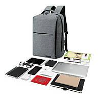 Рюкзак для ноутбука серый BAGSMART, фото 2